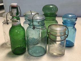 Group of Mason and Fruit Jars