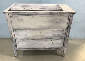 Painted Modern Three Drawer Chest