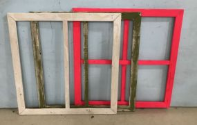 Three Painted Wood Panels