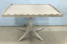 Painted Rectangle Pedestal Coffee Table