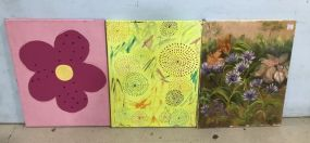 Three Unframed Canvases