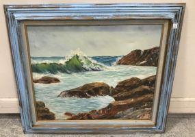 Vintage Sea Shore Painting