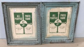 Pair of Painted 8 x 10 Picture Frames
