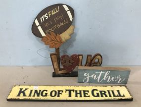 Assorted Group of Decor Signs