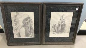 Two Paula Beck Native American Prints