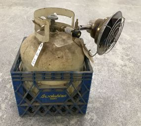 Used Propane Bottle with Heater