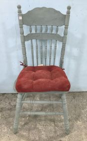 Blue Painted Pressed Back Side Chair