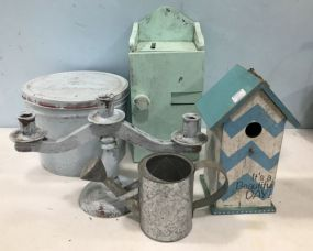 Four Painted Decorative Items