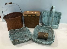 Five Woven Decor Baskets