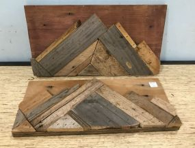 Two Home Made Wood Mountain Plaques