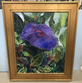 Bettye Bittel Painting of Purple Flower