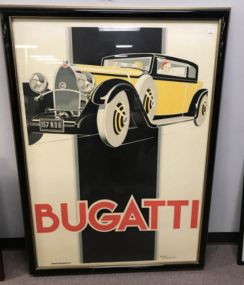 Large Bugatti Print by Rerre' Vincent