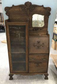 Victorian Style Bookcase Secretary