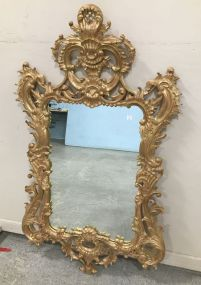 Antique Reproduction Ornate Gold Gilt Wall Mirror