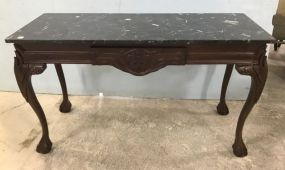 Reproduction Antique Ball-n-Claw Sofa Table/Wall Console