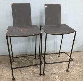 Industrial Style Metal Bar Stools