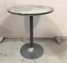 Industrial Style Metal Round Pedestal Table