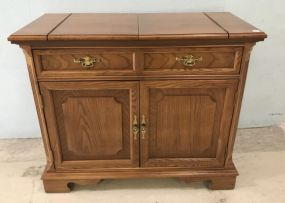 Bassett Oak Finish Server