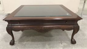 Antique Reproduction Ball-n-Claw Square Coffee Table