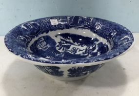 Victoria Ware Ironstone Blue & White Bowl