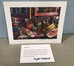 Wyatt Waters Signed Still Life Print