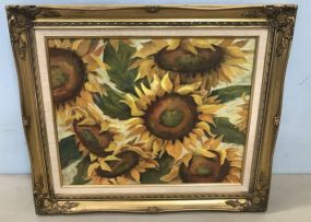 Sunflower Painting by Pam Montgomery