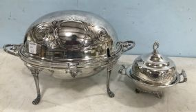 Silver Plate Serving Footed Dishes
