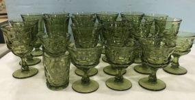 Fostoria Argus Green Glasses