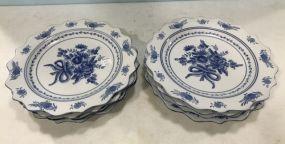 Large Ironstone Blue & White Plates