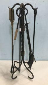 Heavy Duty Metal Fireplace Tool Set