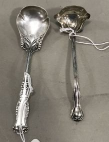Sterling .925 Berry Spoon and Sterling Cream Ladle