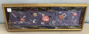 Framed Oriental Silk Tapestry