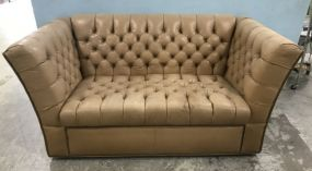 Beige Chesterfield Style Sofa