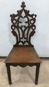Victorian Style Carved Back Hall Chair