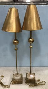 Contemporary Gold Gilt Table Lamps