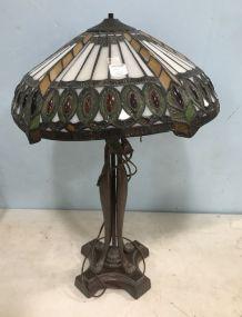 Replica Slag Glass Table Lamp