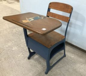Vintage Painted Child's School Desk