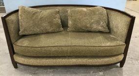 Swaim Carved Upholstered Sofa