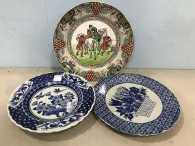 Royal Doulton Plate and Blue White Oriental Plates