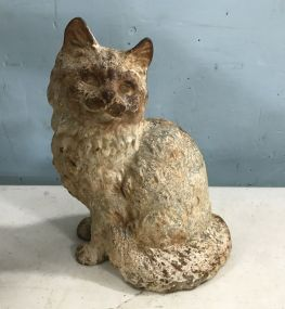Vintage Iron Cast Cat Statue