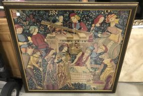 Large Frame Tapestry European Scene
