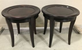 Pair of Modern Round Top End Tables