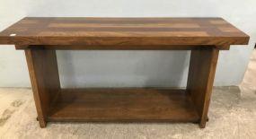 Mid Century Style Oak Sofa/Console Table