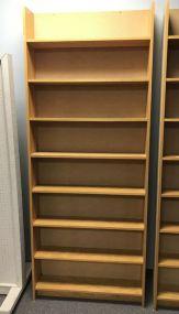Oak Finish Wall Mount Bookcase