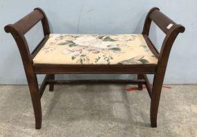 Duncan Phyfe Mahogany Vanity Bench