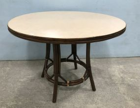 Ficks Reed Bamboo Style Round Table
