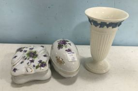 Wedgwood and Lefton Pottery