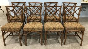 Eight Bamboo Style Dinning Chairs