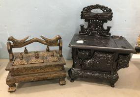 Stern Industries Stove Replica and Decor Trinket Box