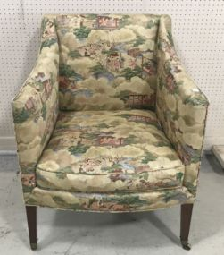 Oriental Style Upholstery Arm Chair